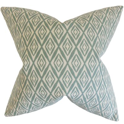 Najila Geometric Bedding Sham Size: Queen, Color: Aqua