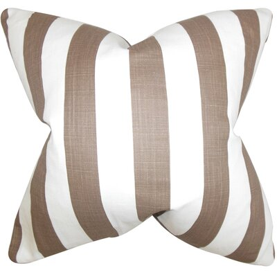 Ilaam Stripes Bedding Sham Size: Euro, Color: Brown