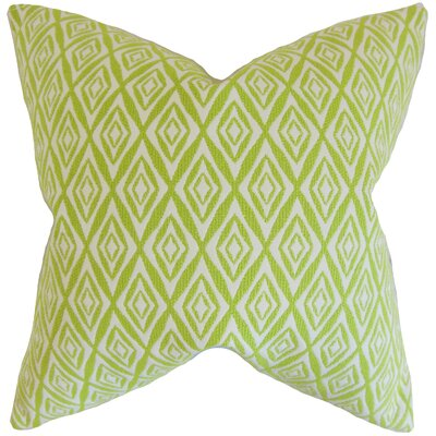Najila Geometric Bedding Sham Size: Euro, Color: Green