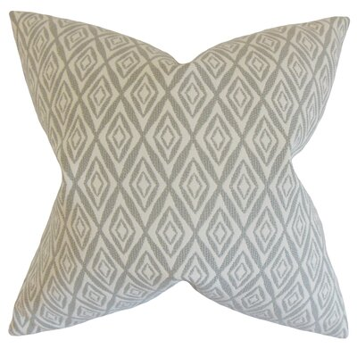 Najila Geometric Bedding Sham Size: Queen, Color: Gray