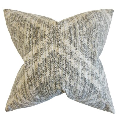 Pickens Geometric Bedding Sham Size: King, Color: Pewter