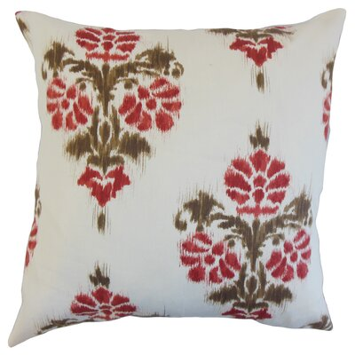 Edwige Geometric Cotton Throw Pillow Color: Red, Size: 18
