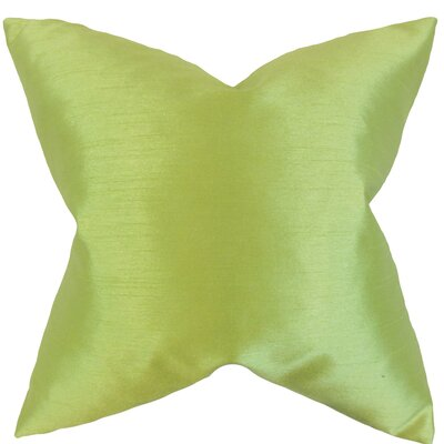 Klee Solid Thrown Pillow Color: Apple Green, Size: 18 x 18