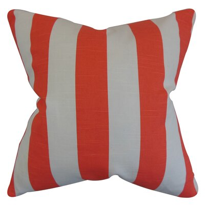 Acantha Stripes Bedding Sham Color: Orange, Size: Standard