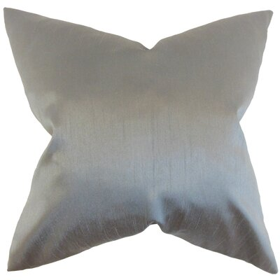Klee Solid Thrown Pillow Color: Gray, Size: 18 x 18