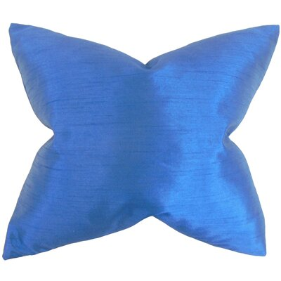Klee Solid Thrown Pillow Color: Indigo, Size: 22 x 22
