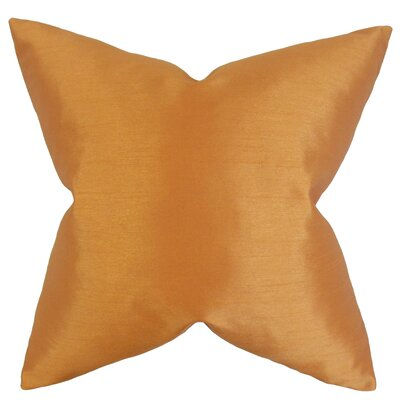 Klee Solid Thrown Pillow Color: Orange, Size: 24 x 24