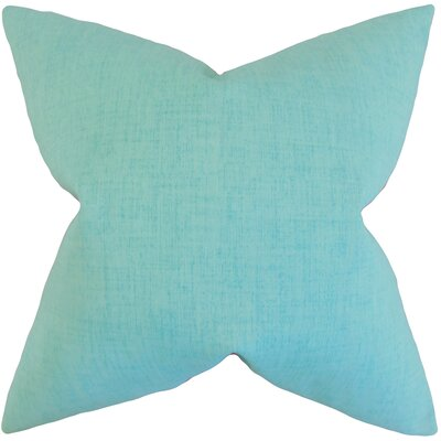 Haloke Solid Outdoor Throw Pillow P18-ROB-BAJALINENEMB-TURQUOISE