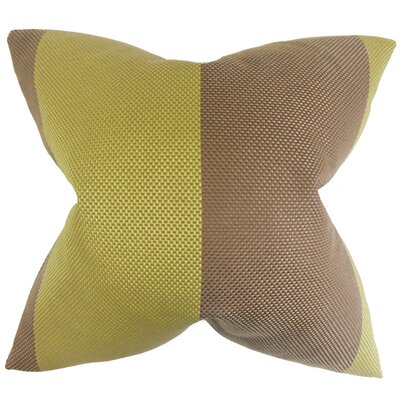 Calais Outdoor Throw Pillow Color: Seagrass