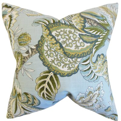 Oberon Cotton Throw Pillow Color: Mineral, Size: 18 x 18