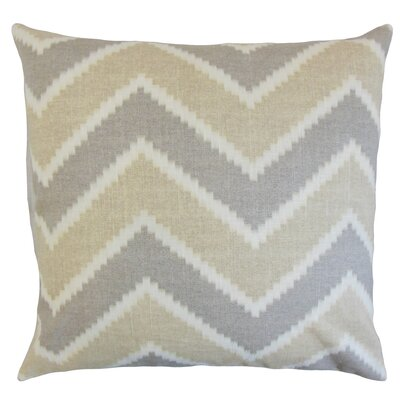 Hoku Zigzag Linen Throw Pillow Color: Jute, Size: 24 x 24