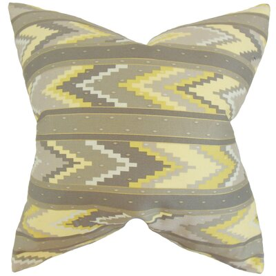 Amadis Geometric Cotton Throw Pillow Color: Yellow, Size: 18 x 18