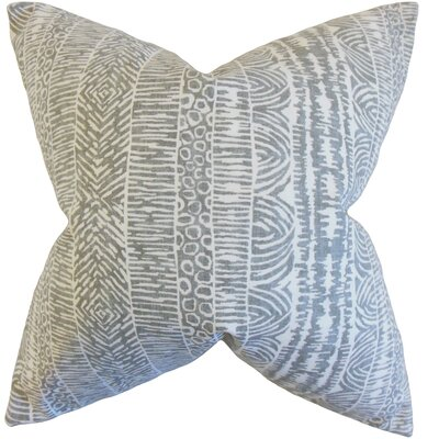 Jem Striped Cotton Throw Pillow Color: Greystone, Size: 18 x 18
