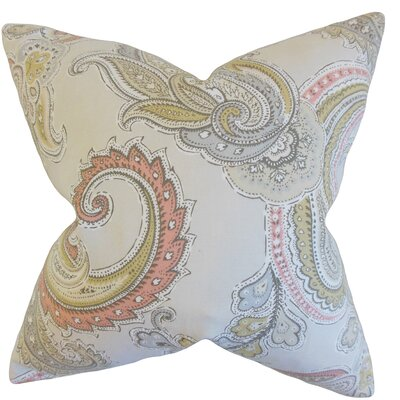 Kalani Paisley Cotton Throw Pillow Color: Clush, Size: 24 x 24