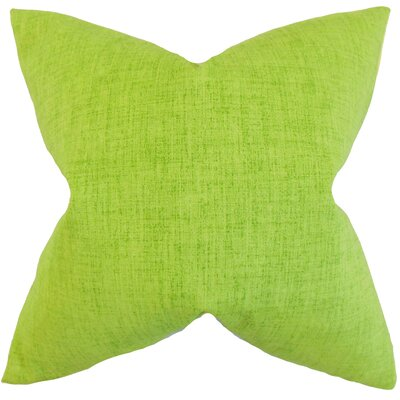 Leda Solid Throw Pillow Color: Lime, Size: 18 x 18
