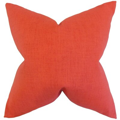 Leda Solid Throw Pillow Color: Orange, Size: 18 x 18