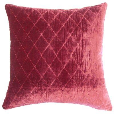 Large Diamond Velvet Throw Pillow