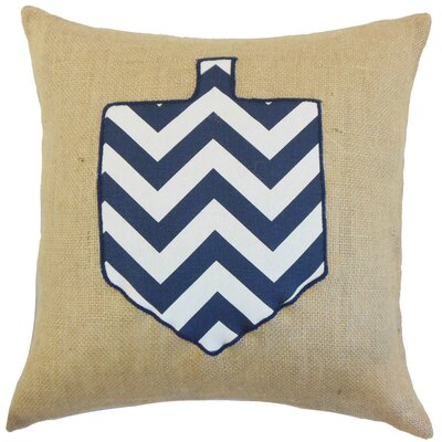 Hanukkah Burlap Throw Pillow