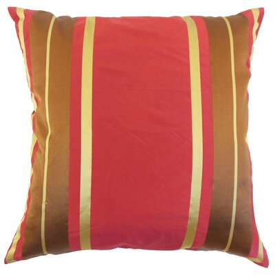 Texo Stripe Silk Throw Pillow