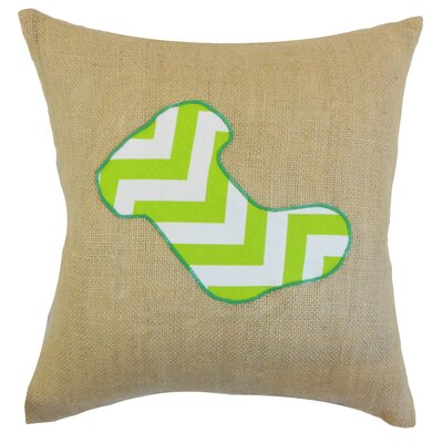 Holiday Christmas Stocking Burlap Throw Pillow Color: Chartreuse