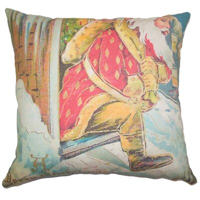 Holiday Vintage Santa Claus Natural Throw Pillow