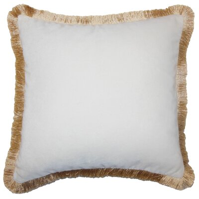 Holiday Gold Velvet Throw Pillow