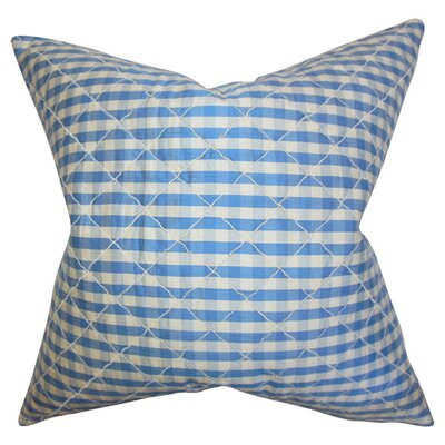 Addisyn Plaid Silk Throw Pillow Color: Blue