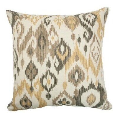 Odayle Ikat Cotton Throw Pillow Size: 18 x 18