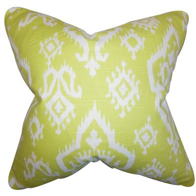Ishaq Ikat Throw Pillow Size: 22 x 22