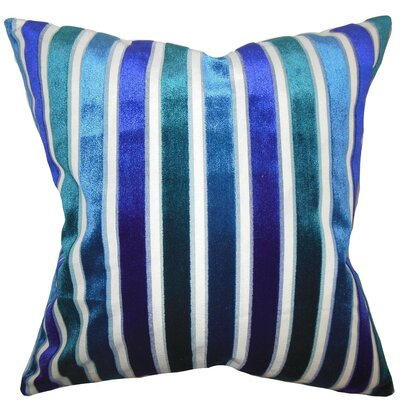 Alton Stripes Throw Pillow Color: Ultramarine, Size: 18 x 18