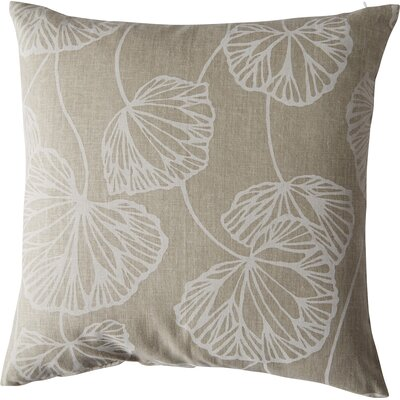 Fia Floral Throw Pillow Color: Natural, Size: 18 x 18
