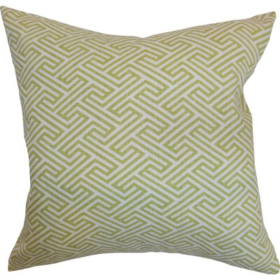 Kibler Cotton Throw Pillow Color: Leaf, Size: 20 x 20