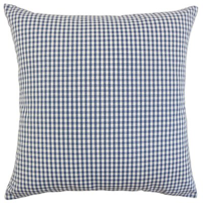 Keats Cotton Throw Pillow Color: Navy, Size: 18 x 18