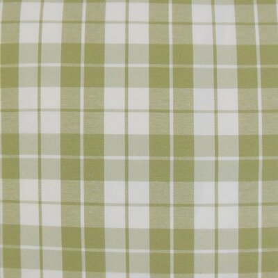 Joss Plaid Cotton Throw Pillow Color: Sage, Size: 24 x 24