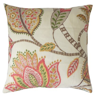 Mazatl Linen Throw Pillow Color: Blush, Size: 18 x 18