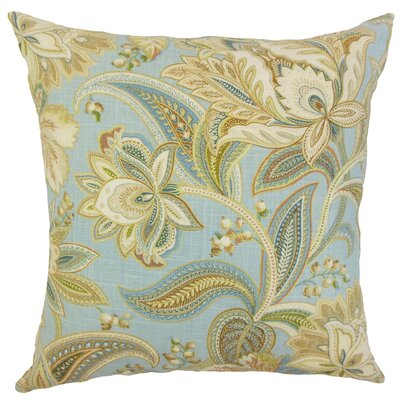 Gitana Throw Pillow Color: Blue, Size: 18 x 18