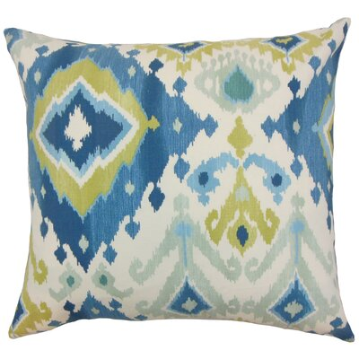 Gannet Ikat Bedding Sham Color: Aegean, Size: Queen