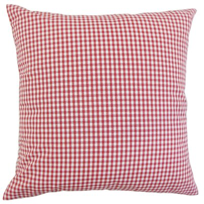 Keats Cotton Throw Pillow Color: Red, Size: 18 x 18