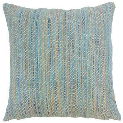 Raith Stripes Throw Pillow Cover Size: 18 x 18, Color: Lagoon