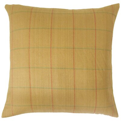Aleron Plaid Cotton Throw Pillow Size: 18 x 18