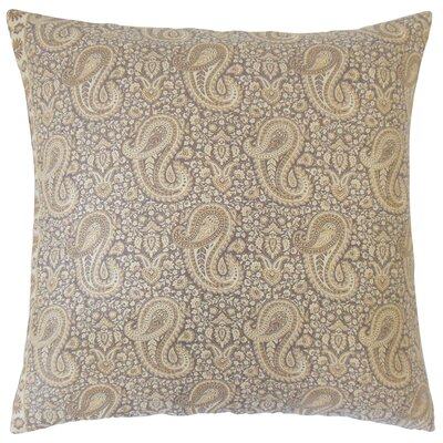 Danyale Paisley Cotton Throw Pillow Size: 18 x 18