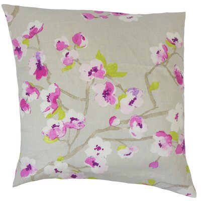 Dashania Linen Throw Pillow Color: Blossom, Size: 20 x 20