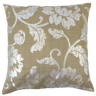 Berdine Floral Throw Pillow Color: Cocoa, Size: 18 x 18