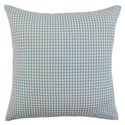 Keats Cotton Throw Pillow Color: Aqua, Size: 24 x 24