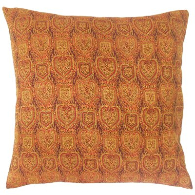 Hazina Paisley Cotton Throw Pillow Size: 18 x 18