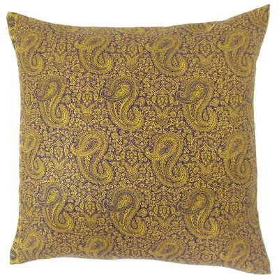 Iha Paisley Cotton Throw Pillow Size: 20 x 20