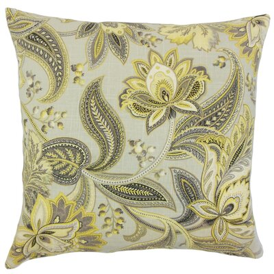 Gitana Floral Bedding Sham Size: King, Color: Gold/Silver