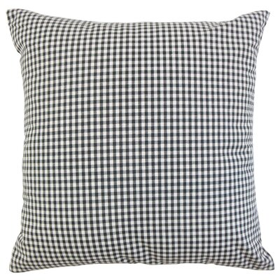 Keats Plaid Throw Pillow Cover Color: Black