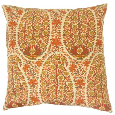 Caliana Floral Cotton Throw Pillow Size: 18 x 18