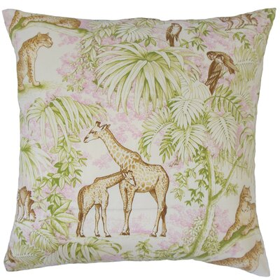 Ender Graphic Linen Throw Pillow Color: Pink, Size: 18 x 18